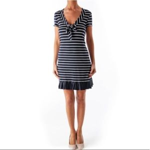 Nanette Lepore Dresses - Nanette Lepore navy white striped nautical dress